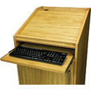 CANFORD ES4186018/O AV PRESENTERS LECTERN 18U, 600mm deep, Oak