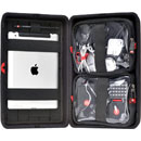 HPRC LGT-HPRCLGTGRA-IC CASE Large, semi rigid, organiser in one half, one half with two pouches