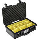 PELI 1485PD AIR CASE With padded dividers, internal dimensions 451x259x156mm, black