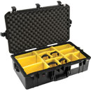 PELI 1605PD AIR CASE With padded dividers, internal dimensions 660x356x213mm, black