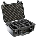 PELI 1450 PROTECTOR CASE With padded dividers, internal dimensions 374x260x154mm, black