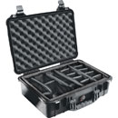 PELI 1500 PROTECTOR CASE With padded dividers, internal dimensions 428x286x155mm, black