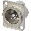 NEUTRIK NC4MD-LX XLR Male panel connector, nickel shell, silver contacts