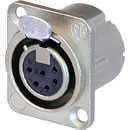 NEUTRIK NC6FD-LX XLR Female panel connector, nickel shell, silver contacts