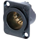 NEUTRIK NC7MD-LX-B XLR Male panel connector, black shell, gold contacts