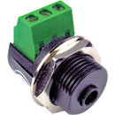 BTX CA-MX35 MINIATURE JACK SOCKET 3.5mm 3-pole, screw terminal