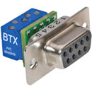 BTX CD-DB9FEZBR D-SUB 9 pin female, panel mount, micro screw terminal