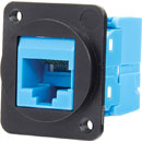 TUK D-SERIES KEYSTONE RJ45 IDC SOCKET Cat6 tool-less, blue