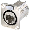 NEUTRIK NE8FDX-Y6 ETHERCON CAT6A Panel mounting, shielded, IDC termination, nickel