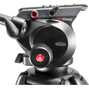MANFROTTO 504HD VIDEO TRIPOD HEAD Fluid type, adjustable pan/tilt drag, 12kg payload, 75mm ball