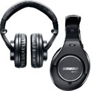 SHURE SRH840-EFS HEADPHONES Closed, 3.5mm jack, 6.35mm adapter, single sided coiled cable