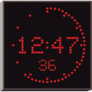 WHARTON 4900N.05.R.S.UK CLOCK 50mm red characters, surface mount, mains powered