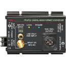 RDL FP-DFC2 CONVERTER Digital audio, SPDIF/AES-3ID to AES/EBU, Toslink/RCA (phono)/BNC in, XLR out