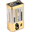 GP 1604A BATTERY, 1604 (PP3) size, alkaline, Super series (box of 10)