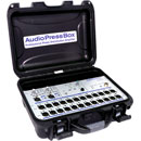 AUDIOPRESSBOX APB-224 C PRESS SPLITTER Active, cased, 2x mic/line in, 24x mic/line out, battery