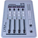 D&R LYRA 1x4 BROADCAST MIXER Four fader control surface, with LYRA I/O rackmount interface