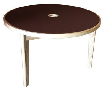CANFORD ACOUSTIC TABLE Ash, circular 1220mm, no jacks, (specify fabric colour)