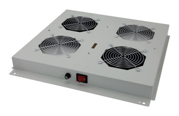 LANDE ROOF FAN TRAY 2 fans, on/off switched, for ES362 rack, grey