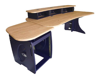 CUSTOM CONSOLES EO-90A EDITONE DESK Oak, blue, flat-pack