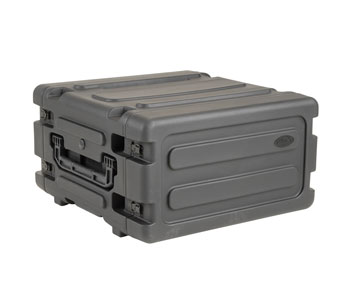 SKB 3SKB-R04U20W ROTO SHOCK RACK CASE 4U, 20-inch depth, water resistant, pull handle and wheels