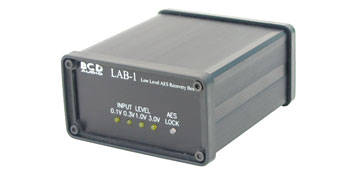 BCD LAB-1 AES-3 AUDIO RANGE EXTENDER Single AES/EBU channel, requires DC power