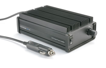 CANFORD 12V PORTABLE POWER AMPLIFIER 22W/4, 35W/2, 12V DC, black