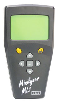 NTI ML1 MINILYSER SIGNAL ANALYSER Analogue audio, without calibration certificate