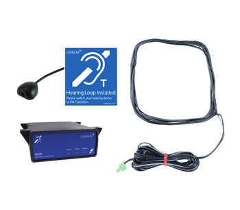 CONTACTA IL-K200-00-00 LOOP AMPLIFIER SYSTEM Under counter kit, with STS-M70 Mouse microphone