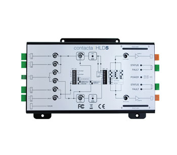 CONTACTA HLD5 HEARING LOOP DRIVER Perimeter or phased array, mic/line/100V input, dual output, 7Vrms