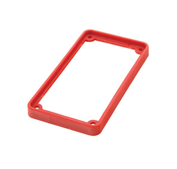 TECPRO Spare bezel for BP1 series beltpack, red