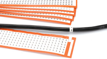 CABLE MARKERS 38 SET (1 card of each of 380 -389), black on white