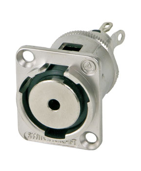 SWITCHCRAFT EH35MMMSC 3.5mm 2-pole jack socket, solder, nickel
