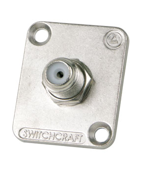 SWITCHCRAFT EHFF F-type female-female feedthrough, nickel