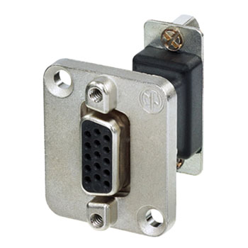 NEUTRIK NADB15FF D-SUB 15 pin female - female, panel mount, feedthrough, nickel