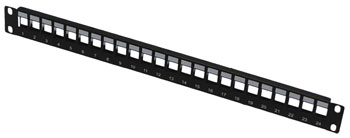 TUK KEYSTONE PANEL Unpopulated, 24 way, for modules up to 18.45mm wide