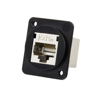 TUK D-SERIES KEYSTONE RJ45 BACK-TO-BACK COUPLER Cat5E, shielded metal body