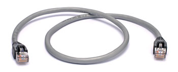 RS422 SCREENED PATCHCORD RJ45S-RJ45S-600mm-Metallic silver