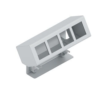 PANCONNECT MINI4 CHASSIS CONNECTION MODULE Side mount, silver