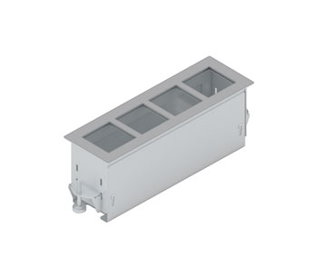 PANCONNECT FLAT4 CHASSIS CONNECTION MODULE Flush mount, silver