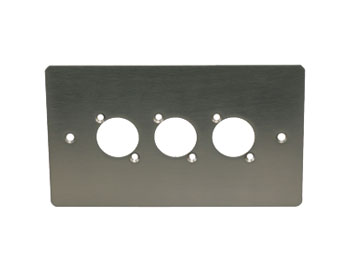CANFORD F3SN CONNECTOR PLATE 2-gang, 3 mounting holes, satin nickel