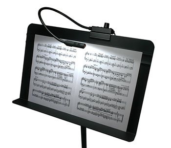 LITTLITE MS-18-A-LED MUSIC STAND GOOSENECK LAMP 18 inch, LED array, black