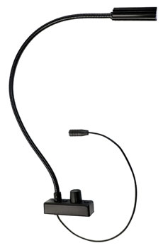 LITTLITE IS #2 GOOSENECK LAMPSET 18 inch, halogen bulb, dimmer, fixed, rear cord exit, US PSU, black
