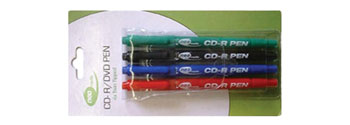 CD AND DVD MARKING PENS (pack of 4)