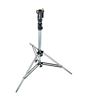 MANFROTTO 008CSU TRIPOD STAND Heavy duty steel, 2 sections, 1 riser, 1 levelling leg, chrome