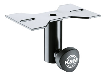 K&M 195/8 MOUNTING ADAPTER Slip-on, mounting plate, black