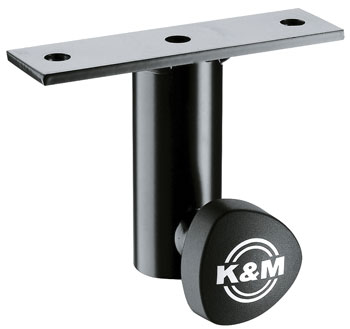 K&M 24281 MOUNTING ADAPTER Slip-on, mounting plate, locking screw, black