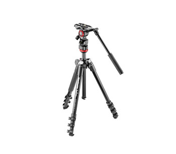 MANFROTTO MVKBFR-LIVE BEFREE VIDEO TRIPOD KIT Includes Befree aluminium tripod and head, bag