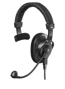 BEYERDYNAMIC DT 280.00 HEADSET Single ear, 80 ohms, with 200 ohms mic, 1.5m bare ended cable
