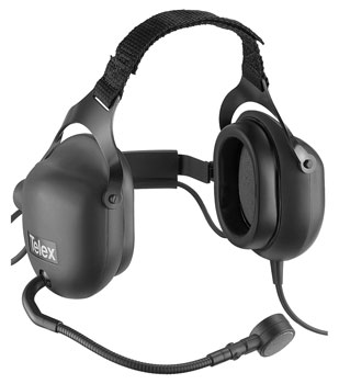 TELEX PH-16 HEADSET Ear defending,  150 ohms, with 150 ohms mic, straight cable, XLR 4-pin female