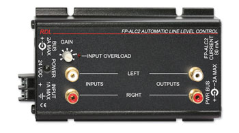 RDL FP-ALC2 AUTOMATIC AUDIO LINE LEVEL CONTROLLER Stereo, RCA (phono) I/O
